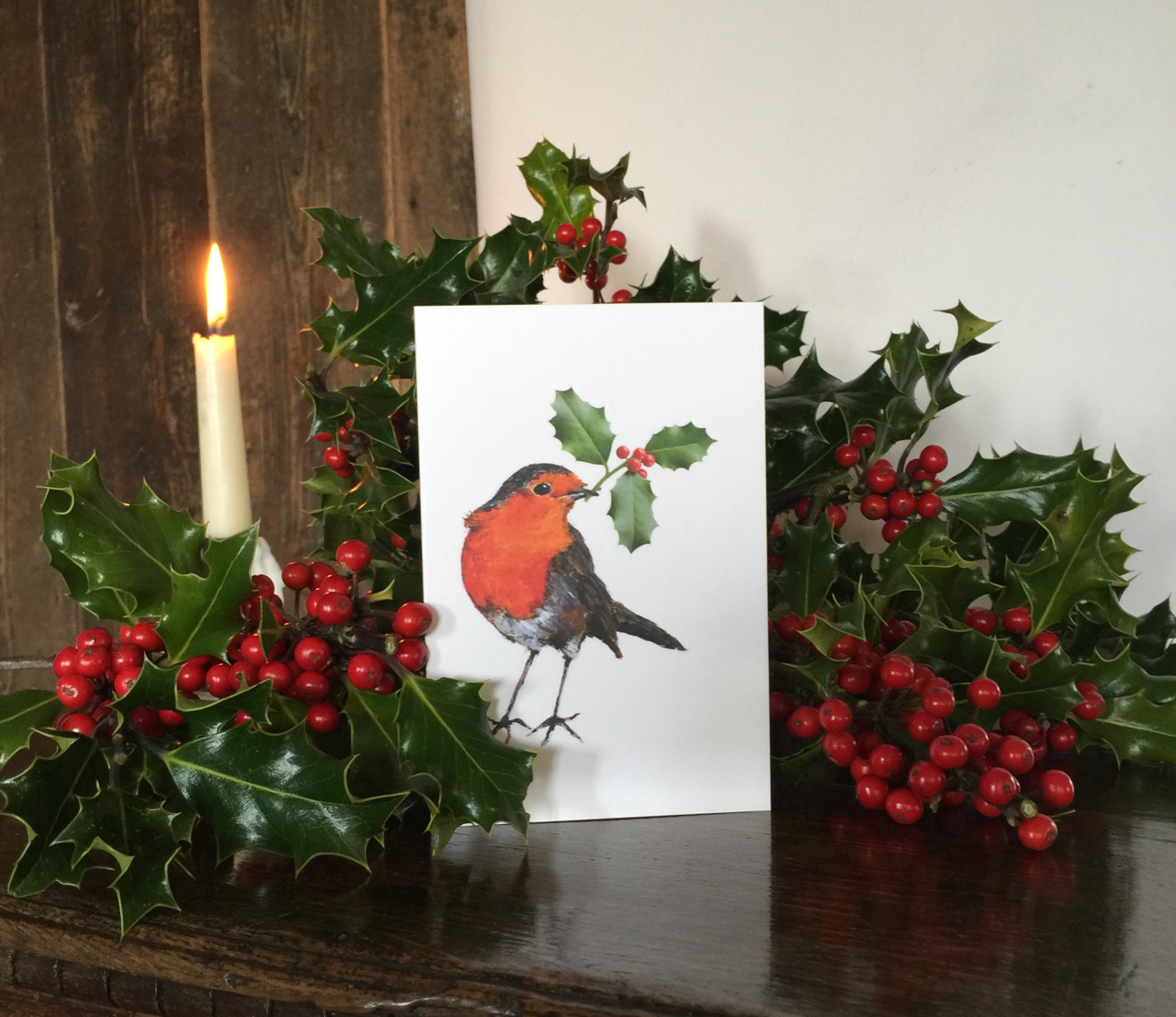 Robin Christmas cards in aid of  Interact Stroke Support